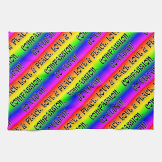Go Vegan! Rainbow Tea Towel