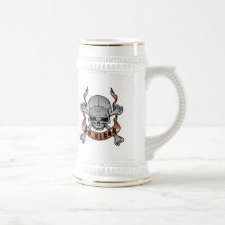 Go Vegan Skull Beer Stein Mug