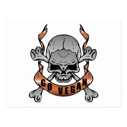 Go Vegan Skull Postcards