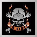 Go Vegan Skull Poster