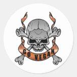 Go Vegan Skull Stickers