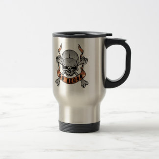 Go Vegan Skull Travel Mug
