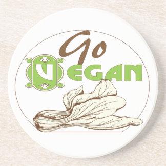 Go vegan stone coaster
