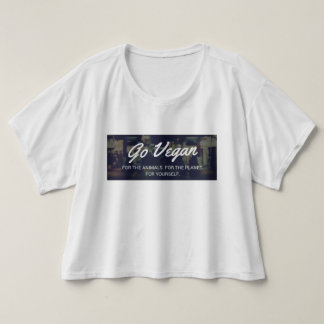 Go Vegan womens tshirt baggy vegetarian activist