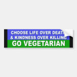 Go Vegetarian Car Bumper Sticker
