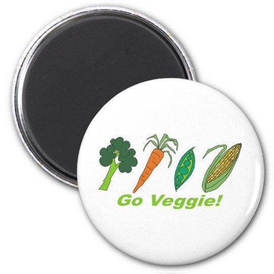 Go Veggie 6 Cm Round Magnet