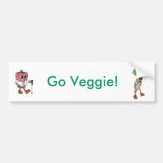 Go Veggie Bumper Sticker Car Bumper Sticker