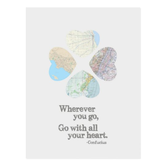 Go With All Your Heart Postcard