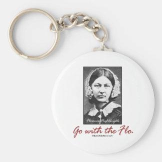 Go with Florence Nightingale Basic Round Button Key Ring