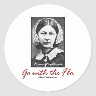 Go with Florence Nightingale Classic Round Sticker