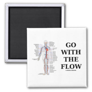 Go With The Flow Circulatory System Attitude Magnets