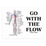 Go With The Flow (Circulatory System Attitude) Postcards