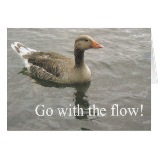 go with the flow duck note card