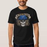 Go with the Flow (Hockey Hair) Blue Tee Shirt