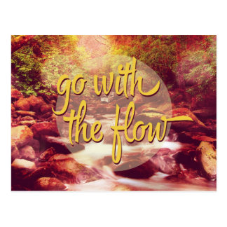 Go With The Flow River Postcard