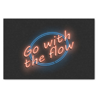 Go with the flow. tissue paper