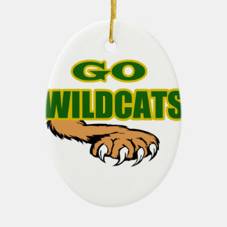 GO WOLDCATS CERAMIC OVAL DECORATION