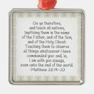 Go Ye Therefore and Teach All Nations Christmas Ornament