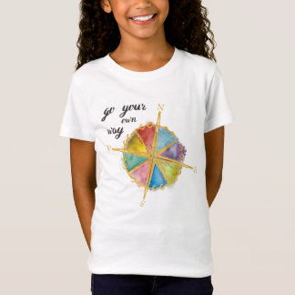 Go Your Own Way Quote With Colored Compass T-Shirt