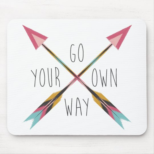 Go Your Own Way-White Mouse Mat