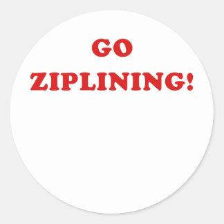 Go Ziplining Round Sticker