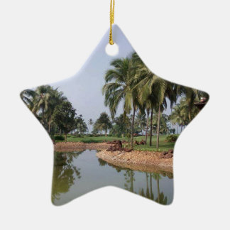 Goa India Ceramic Star Decoration