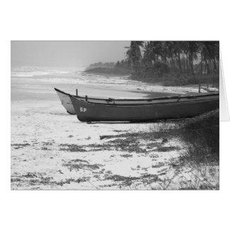 Goa India Fishing Boats Card