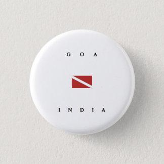 Goa India Scuba Dive Flag 3 Cm Round Badge
