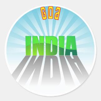 Goa Round Stickers