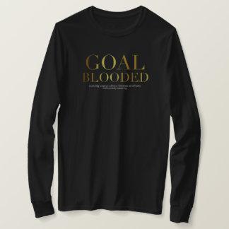 Goal Blooded Long Sleeve Black Tee