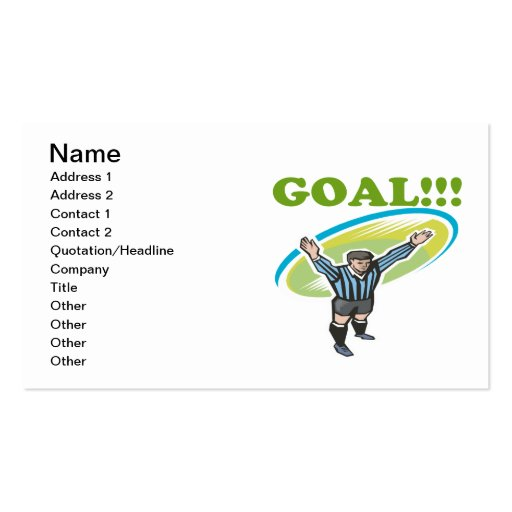 Goal Business Card