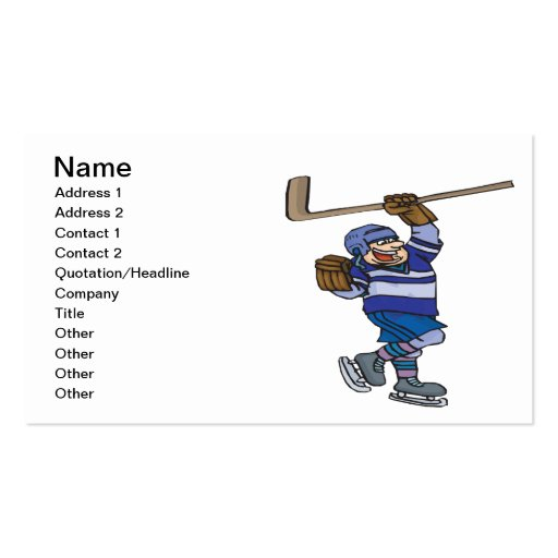 Goal Business Card Template