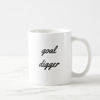 Goal Digger Humor Design Collection Illustration Basic White Mug