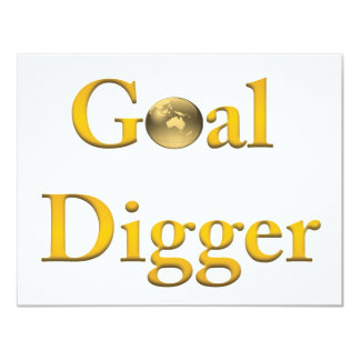 Goal Digger Products 4.25x5.5 Paper Invitation Card