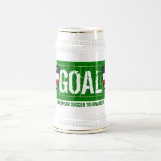 Goal England European Soccer Tournament Beer Mug