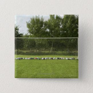 Goal Full of Balls 15 Cm Square Badge