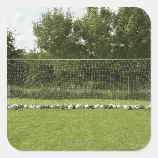 Goal Full of Balls Square Sticker