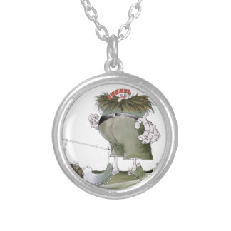 goal keeper 'reds' silver plated necklace