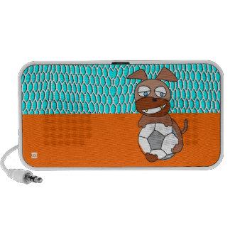 Goal Keeper Soccer Dog Doodle Speakers