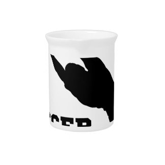 Goal Keeper Soccer Player Silhouette Beverage Pitchers