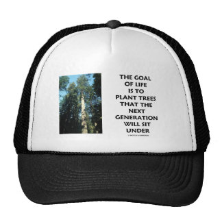 Goal Of Life Is To Plant Trees Next Generation Sit Mesh Hats