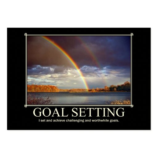 Goal Setting Custom Business Card