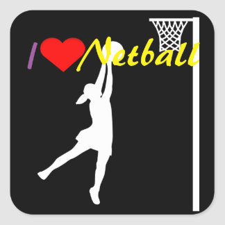 Goal Shooter I Love Netball Square Sticker