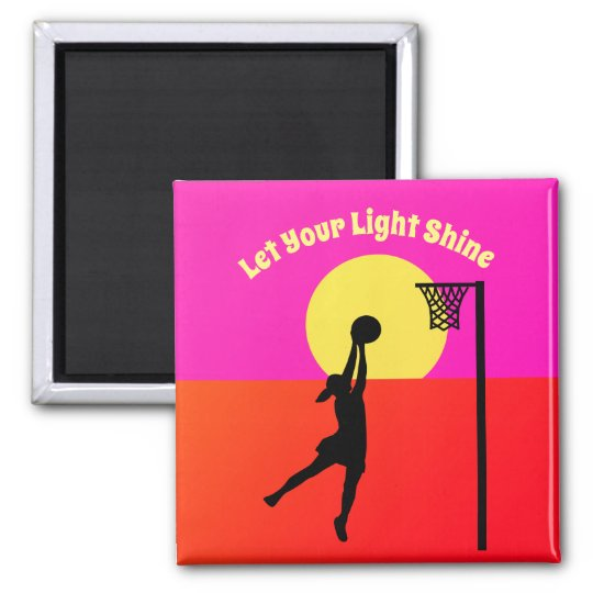 Goal Shooter Inspirational Netball Quote Magnet
