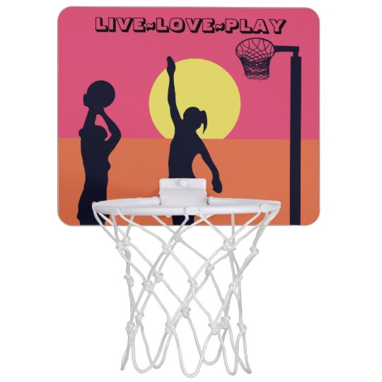 Goal Shooter Theme Live Love Play Netball Mini