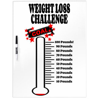 Goal Thermometer 100 Pound Weight Loss Goal Dry Erase Board