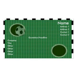 Goal Wall Profile Card Business Card