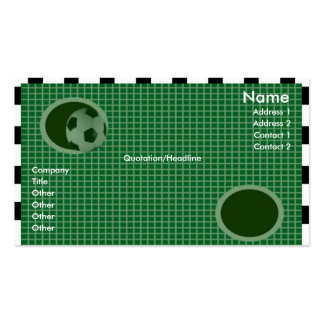 Goal Wall Profile Card Business Cards