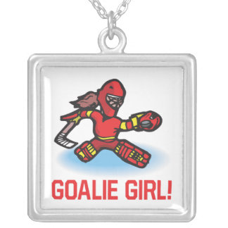 Goalie Girl Silver Plated Necklace