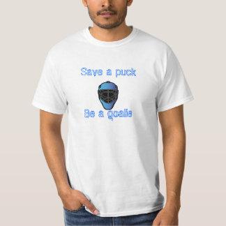 goalie-mask-1, Save a puck, Be a goalie T-Shirt